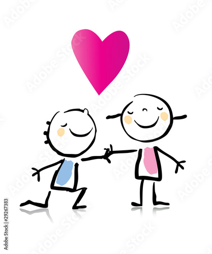 """In Love Cartoon: """"couple In Love- Cartoon"""" Stock Image And Royalty-free"""