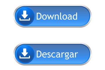 Botón descargar azul Español-English