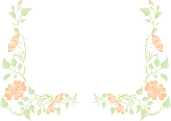 vector flowers on  background