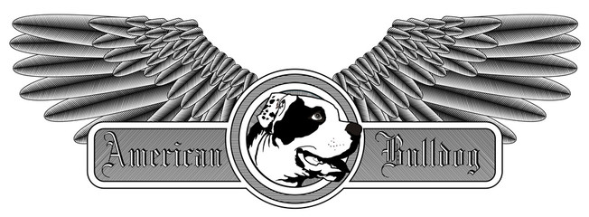 Winged American Bulldog logo