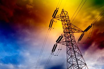 torre de transmision electrica  .Concepto energetico.
