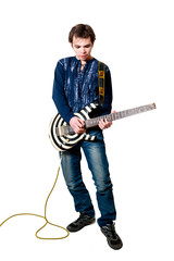 guitarist with electric guitar