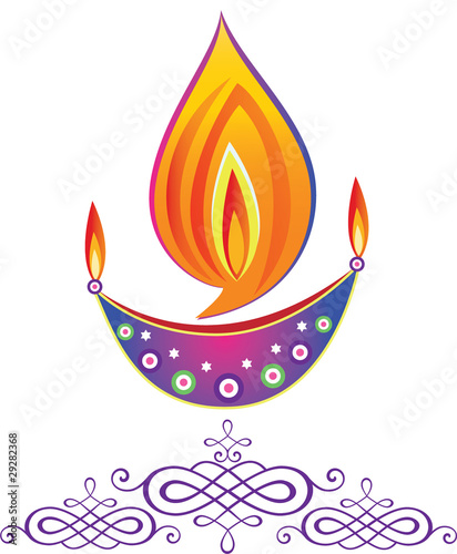 Indian Deepavali Oil Lamps