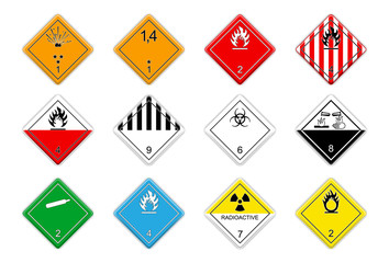 Logistic Hazardous signs