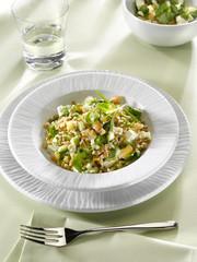 salade d'épeautre à la fèta et au cresson
