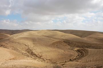 Scenic view on Negev desert in winter, Israel.