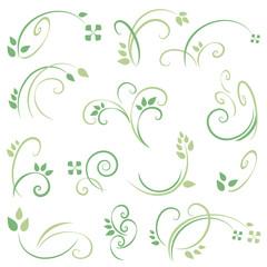 filigranes - gras - blume set 2