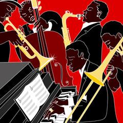 Fototapete - jazz band