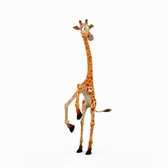 giraffe cartoon jumping