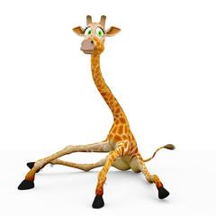 giraffe cartoon sitting down