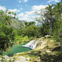 El Nicho waterfall, Cienfuegos Province, Cuba