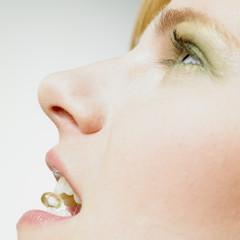 woman with vitamin E