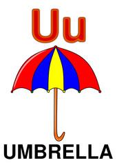 """Letter """"U"""" umbrella"""