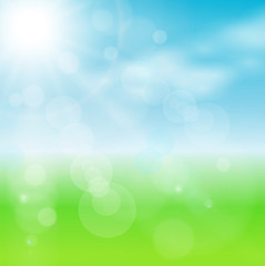abstract background green blurry