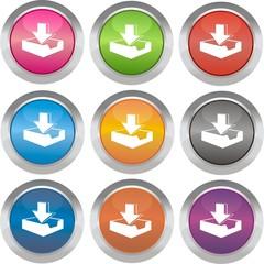 boutons télécharger
