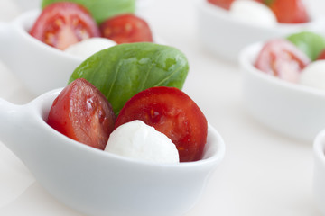 Close Up of Caprese Appetizers