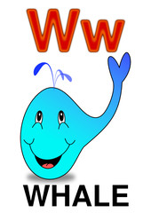 """Letter """"W"""" whale"""