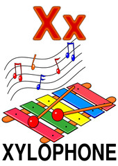 "Letter ""X"" xylophone"