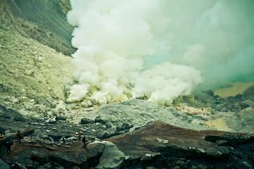 Индонезия, вулкан Иджен, Indonesia, volcano of Ijen Fototapete