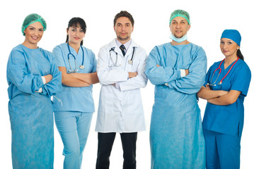 Team of five doctors
