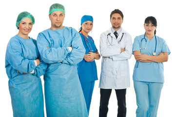 Surgeons and doctors teams