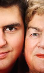 Grandson with his grandma