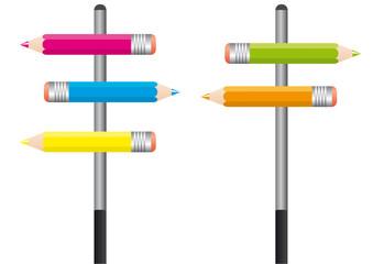 Crayons Couleurs_2 Panneaux