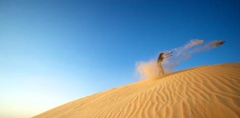 Woman in the desert