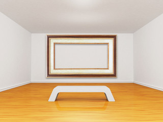gallery with empty picture frame