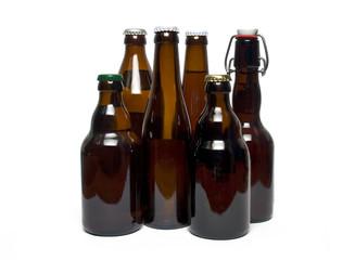 Botellas de cristal de cerveza