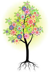 Цветущее весной дерево
