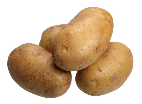Potatoes, isolated