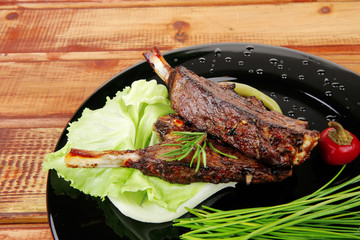 sawory on black: grilled ribs