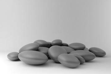 Fototapete - Zen stones disordered