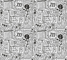 seamless music pattern
