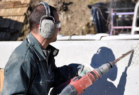 chantier de construction perforateur burineur