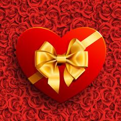 Wall Mural - heart shape gift
