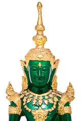 Buddha statue made from green glass