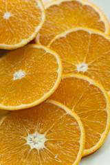 Spoed Foto op Canvas Plakjes fruit saftig