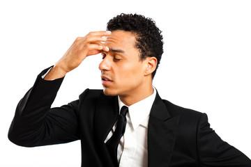 Geschäftsmann mit Kopfschmerzen