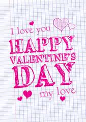 Feuille de papier - Valentine's day