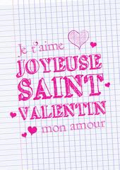 Feuille de papier - Saint-Valentin
