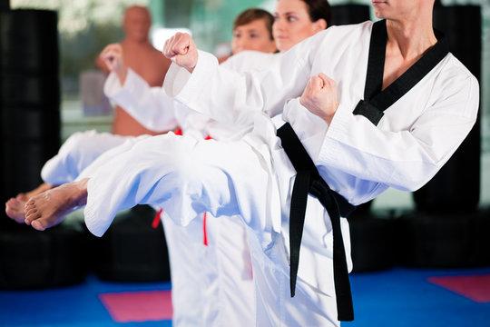 Kampfsport Training im Fitnessstudio