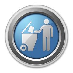 """3D Style Button """"Trash Dumpster"""""""