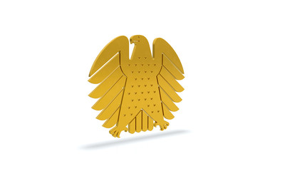 bundesadler in gold