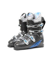 Ski boots isolated on white