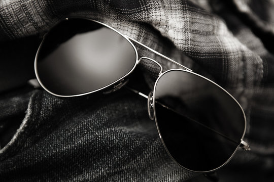 aviator sunglasses grunge plaid