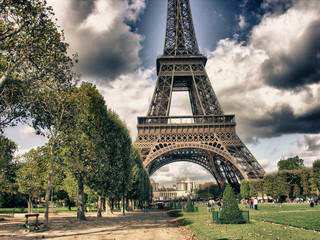 Fotomurales - Eiffel Tower from Park du Champ de Mars, Paris