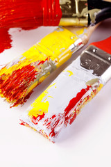 Dirty paintbrushes!