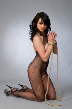 sexual girl in the erotic dress